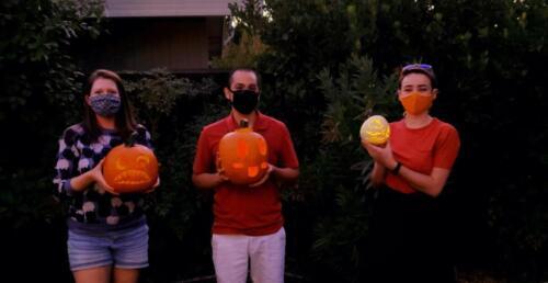 Inaugural Laskowski Lab pumpkin carving party!