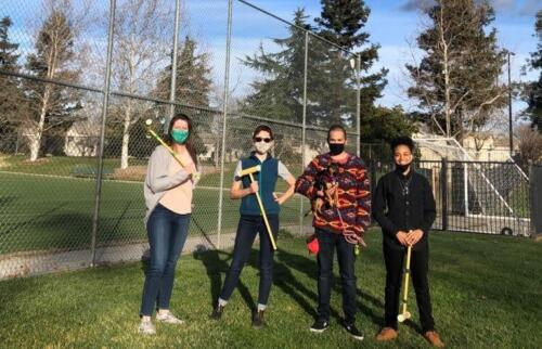 Lab field day FEb 2021 - epic croquet and kubb battles